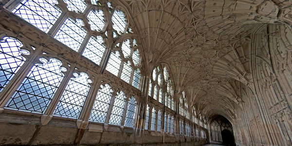 Gloucester Cathedral cloisters interior